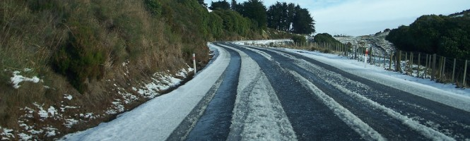 Extreme driving; ice or snow